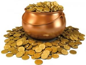 Ritual de fin de año con oro